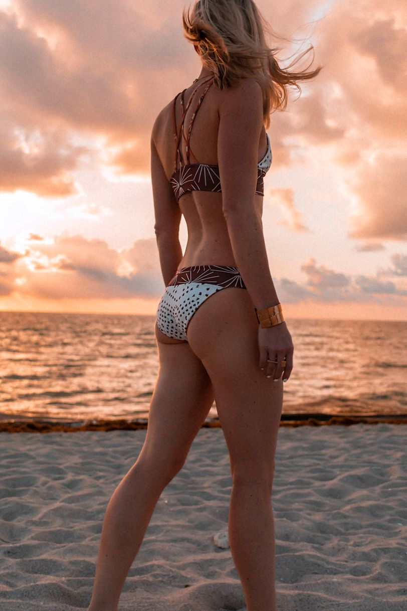 A cheeky KaiKini bikini at sunrise in South Beach